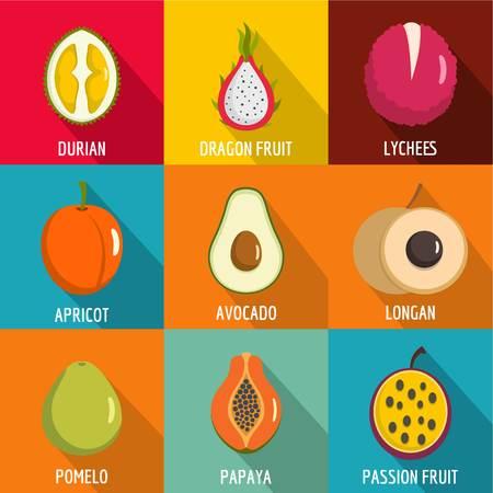 Vitamine icons set. flat set of 9 vitamine icons for web isolated on white background