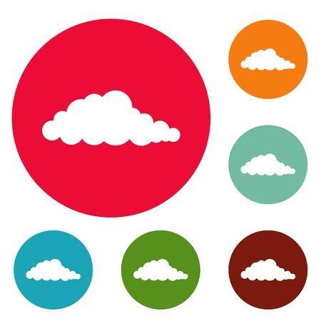 Nebulosity icons circle set isolated on white background