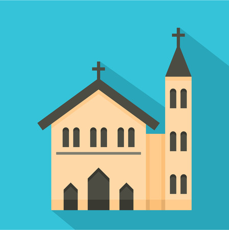 Church icon. Flat illustration of church icon for web
