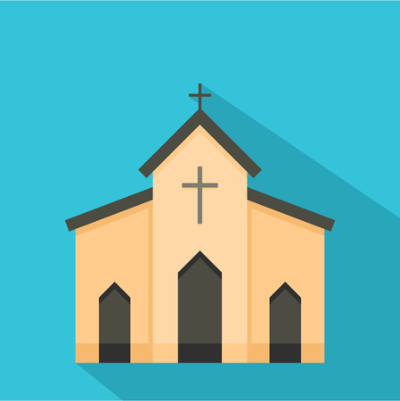 Chapel icon. Flat illustration of chapel icon for web