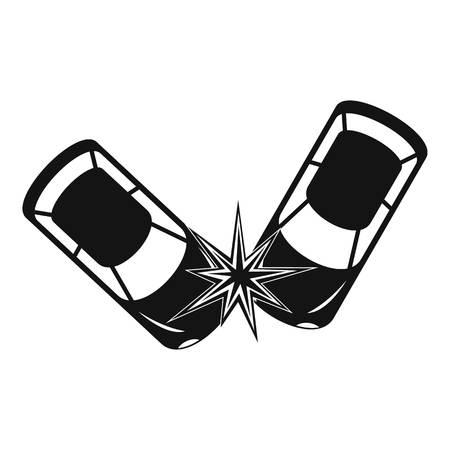 Hard collision icon. Simple illustration of hard collision icon for web