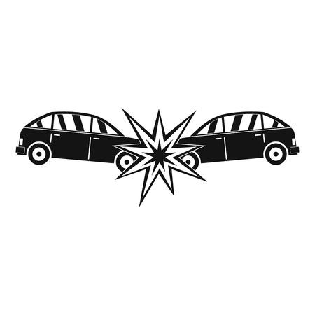 Head collision icon. Simple illustration of head collision icon for web