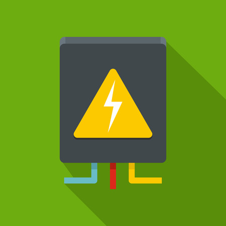 Voltage equipment icon. Flat illustration of voltage equipment icon for web Banco de Imagens