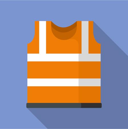 Safety vest icon. Flat illustration of safety vest icon for web Stock Photo