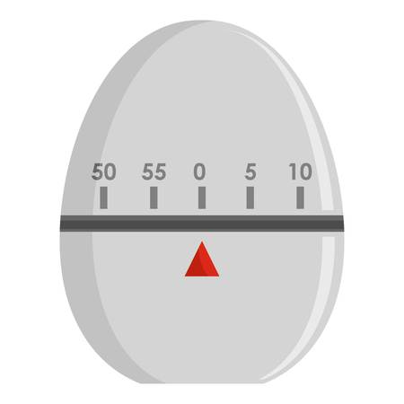 Egg timer icon. Flat illustration of egg timer icon for web Stock Photo