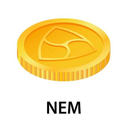 Nem icon. Isometric illustration of nem icon for web Stock Photo
