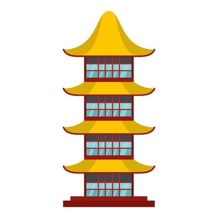 Asian temple icon. Flat illustration of asian temple icon for web Stock Photo