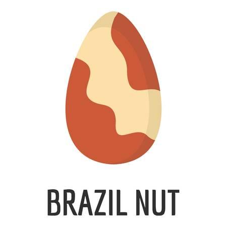 Brazil nut icon. Flat illustration of brazil nut icon for web Stock Illustration - 105976515