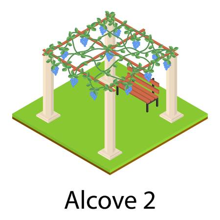 Alcove icon. Isometric illustration of alcove icon for web 스톡 콘텐츠