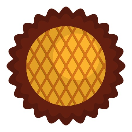 Jam biscuit icon. Flat illustration of jam biscuit icon for web