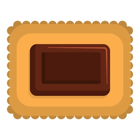 Butter biscuit icon. Flat illustration of butter biscuit icon for web