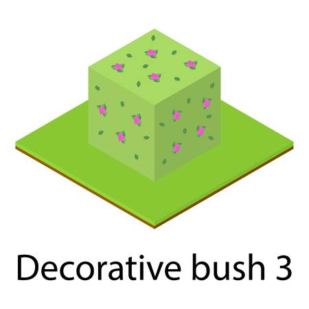 Bush icon. Isometric illustration of bush icon for web