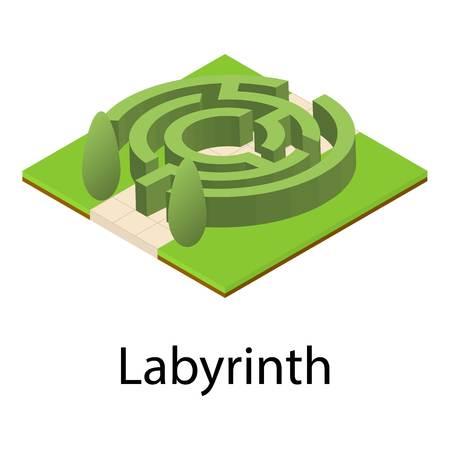Labyrinth icon. Isometric illustration of labyrinth icon for web Фото со стока