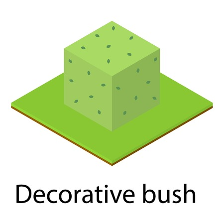 Decorative bush icon. Isometric illustration of decorative bush icon for web