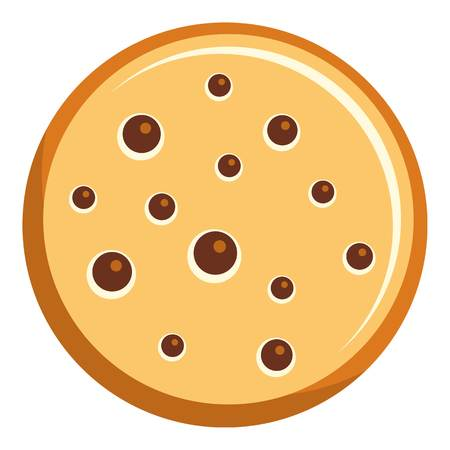 Poppy biscuit icon, flat style Stock Photo