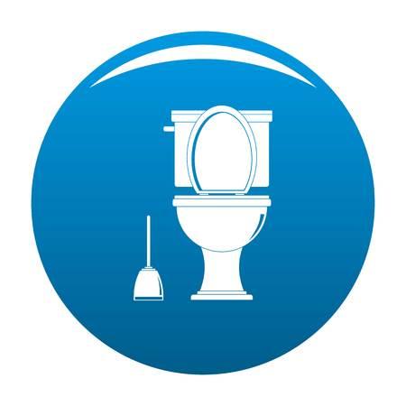 Comfort toilet icon blue