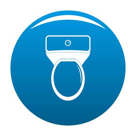 Lavatory icon. Simple illustration of lavatory icon for any design blue Stock Photo
