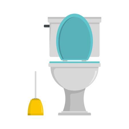 Comfort toilet icon. Flat illustration of comfort toilet icon for web
