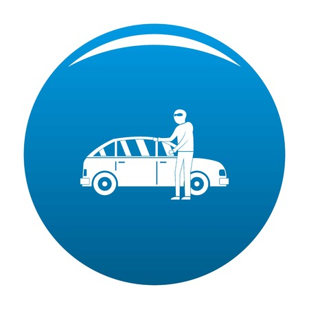 Hijacker icon. Simple illustration of hijacker icon for any design blue