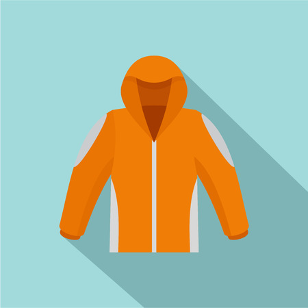 Climbing jacket icon. Flat illustration of climbing jacket icon for web design