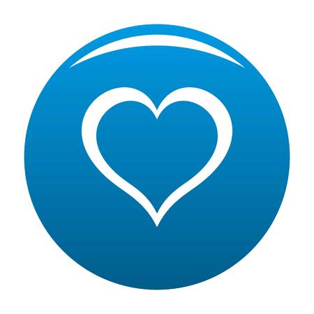 Heart icon. Simple illustration of heart icon for any design blue