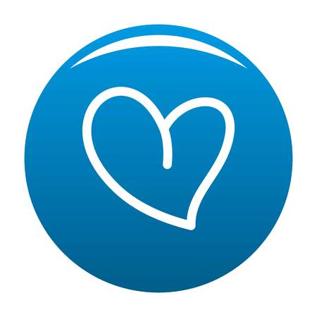 White heart icon. Simple illustration of white heart icon for any design blue