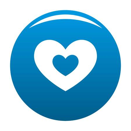 Double heart icon. Simple illustration of double heart icon for any design blue