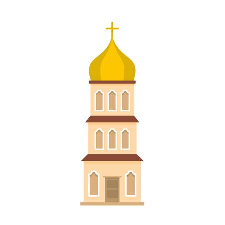 Church tower icon. Flat illustration of church tower icon for web Stock Photo
