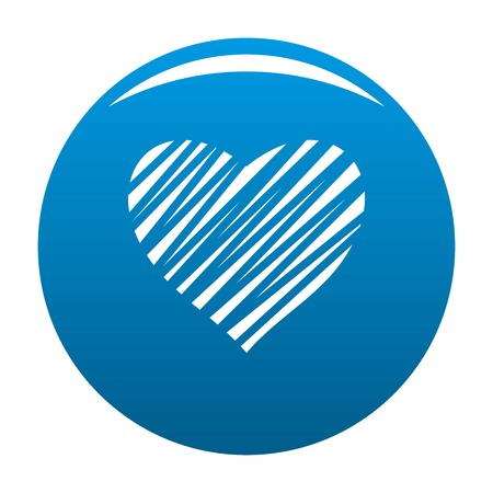 Shaded heart icon. Simple illustration of shaded heart icon for any design blue Stock Photo
