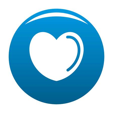 Poisoned heart icon. Simple illustration of poisoned heart icon for any design blue
