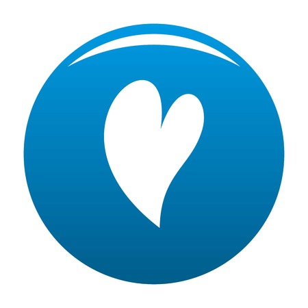 Deaf heart icon. Simple illustration of deaf heart icon for any design blue