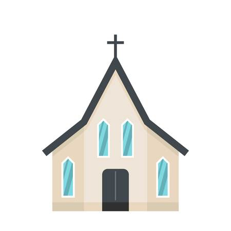 Easter church icon. Flat illustration of easter church icon for web Stock Photo