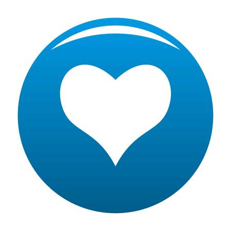 Kind heart icon. Simple illustration of kind heart icon for any design blue Stock Photo