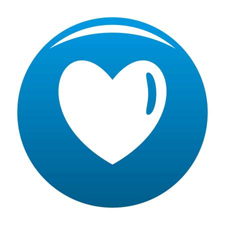 Warm human heart icon. Simple illustration of warm human heart icon for any design blue