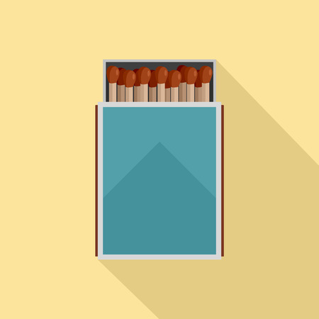 Open matches box icon. Flat illustration of open matches box icon for web design Stok Fotoğraf
