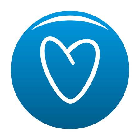 Golden heart icon. Simple illustration of golden heart icon for any design blue Stock Photo