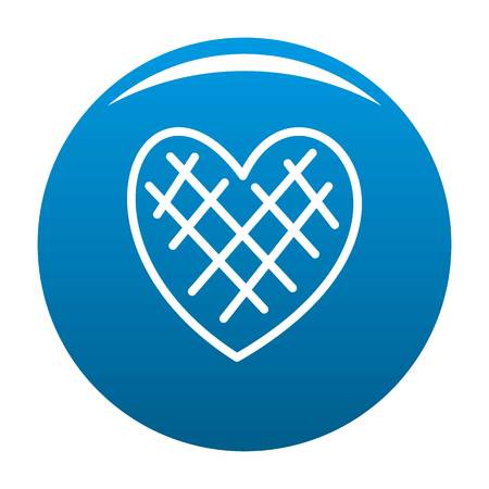Impressionable heart icon blue