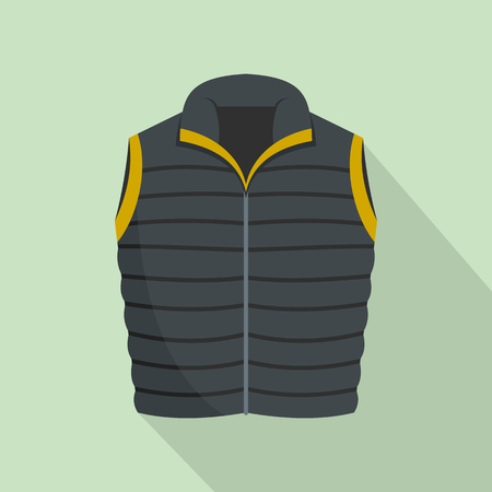 Modern vest icon, flat style Stock Photo