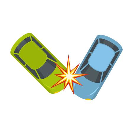 Hard collision icon. Flat illustration of hard collision icon for web