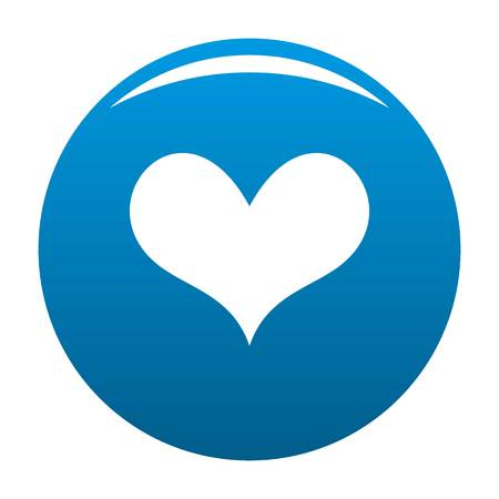 Gustatory heart icon. Simple illustration ofgustatory heart icon for any design blue