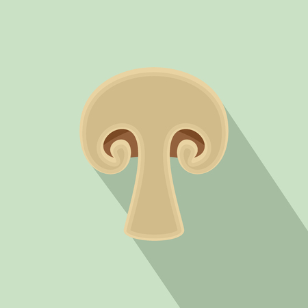 Half of mushroom icon. Flat illustration of half of mushroom icon for web design