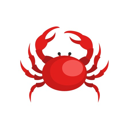 Crab icon. Flat illustration of crab icon for web Stock Photo