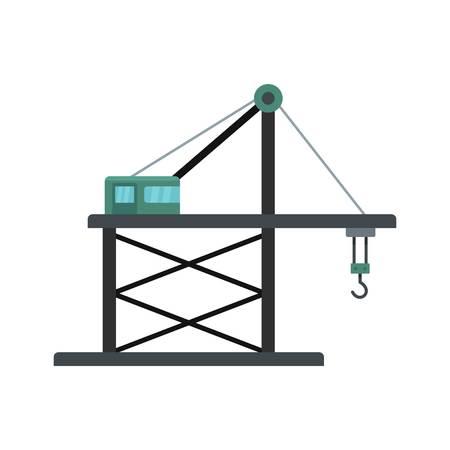 Platform crane icon. Flat illustration of platform crane icon for web