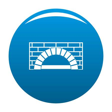 Brick oven icon. Simple illustration of brick oven icon for any design blue