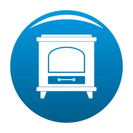 Ancient oven icon blue