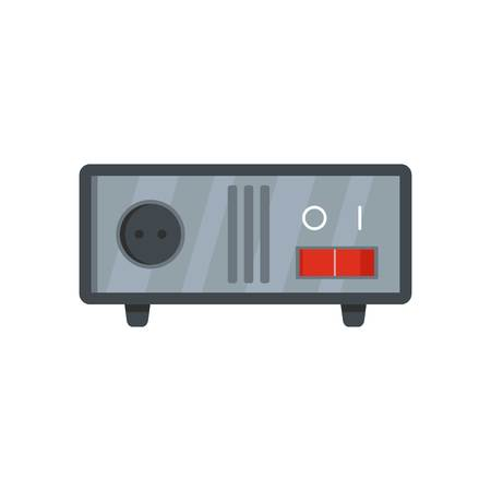 Switched equipment icon. Flat illustration of switched equipment icon for web Banco de Imagens