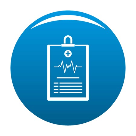 Cardiogram on tablet icon. Simple illustration of cardiogram on tablet icon for any design blue