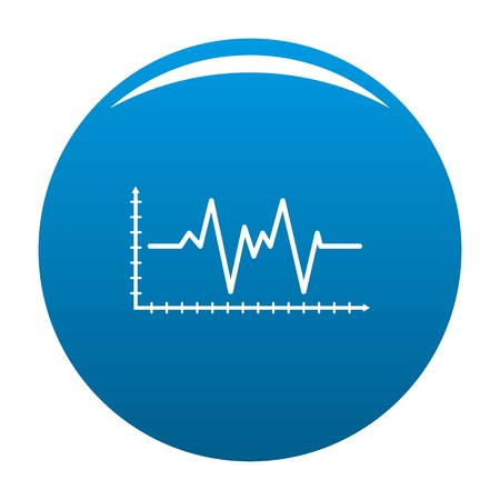Cardiogram icon. Simple illustration of cardiogram icon for any design blue