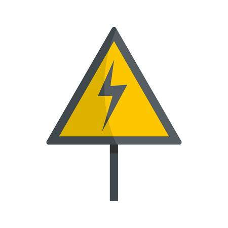 Voltage icon. Flat illustration of voltage icon for web