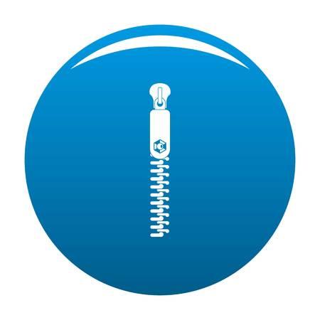 Textile zip icon. Simple illustration of textile zip icon for any design blue Reklamní fotografie